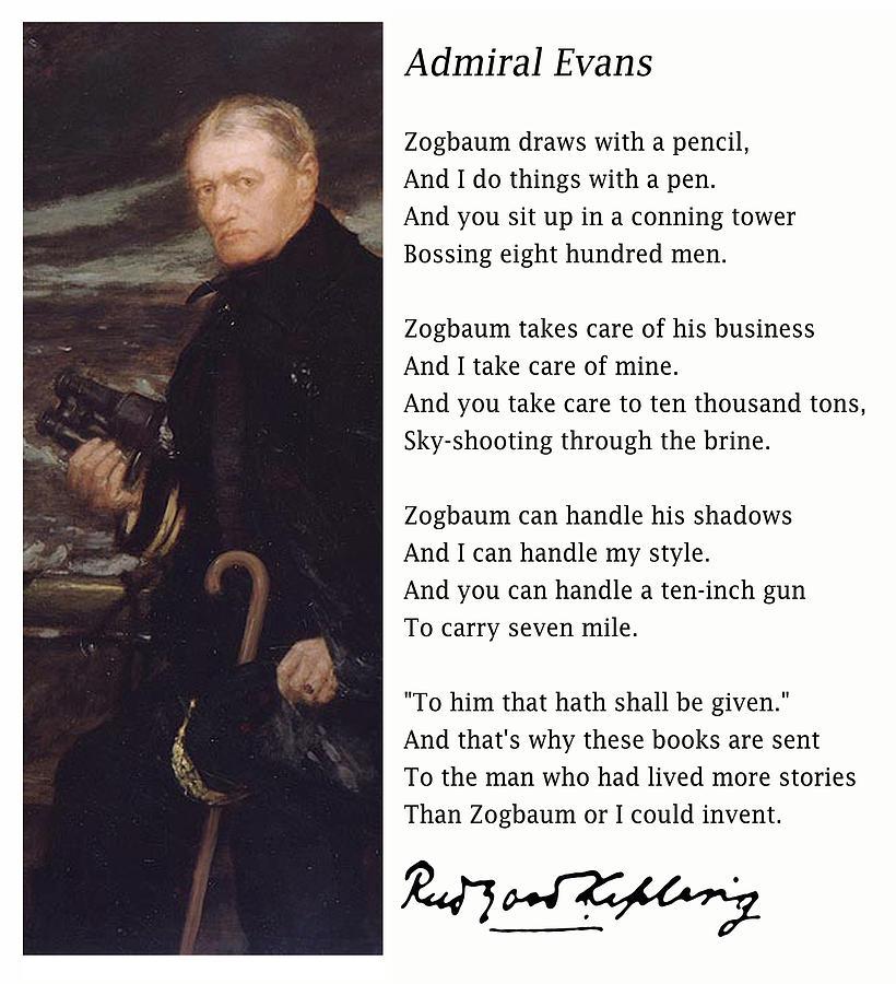 Admiral Evans Painting by Van Evan Fuller