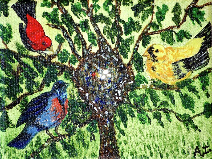 Bird Painting - Admiration by Ann Ingham