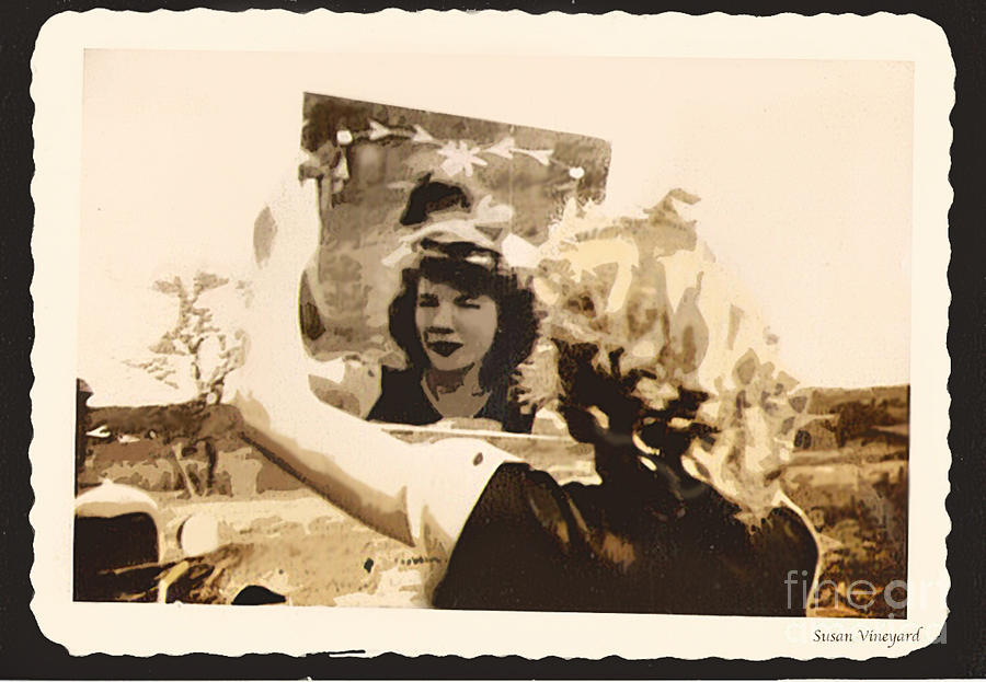 Mirror Photograph - Admiration by Susan Vineyard