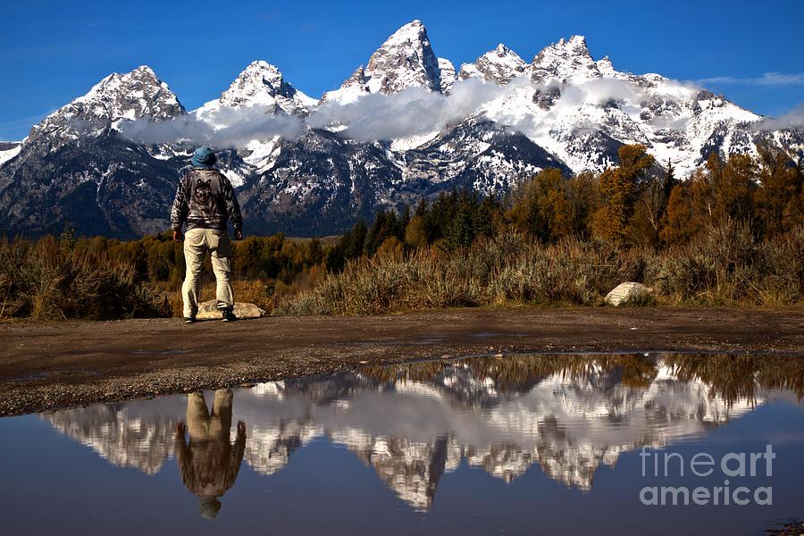 Grand Teton Photograph - Admiring The Teton Sights by Adam Jewell