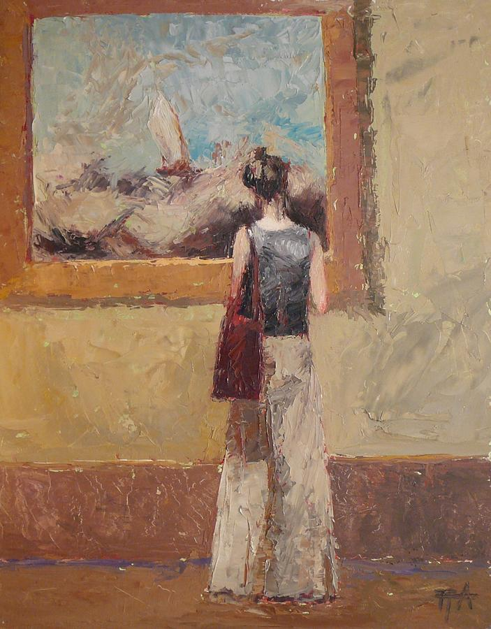 Girl Painting - Admiring Turner by Irena  Jablonski
