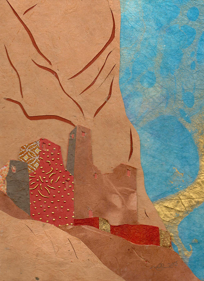Paper Mixed Media - Adobe #2 by Mary Atchison