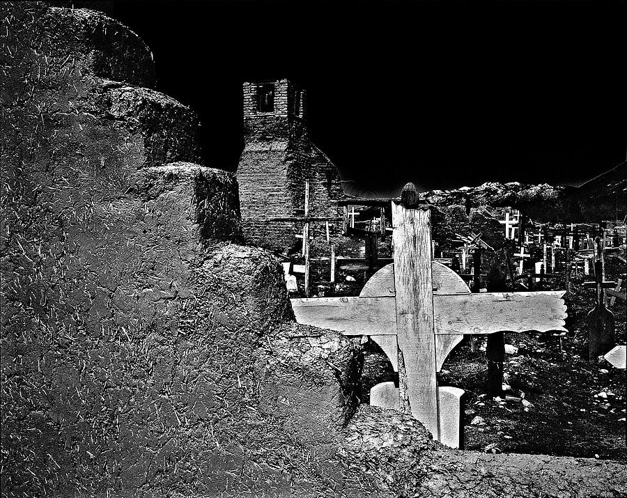 Adobe And The Cross Photograph by Dennis Sullivan