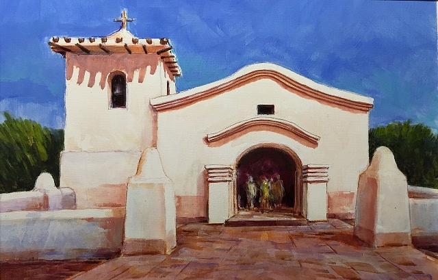 Adobe Church, Argentina by Ronald Shelley