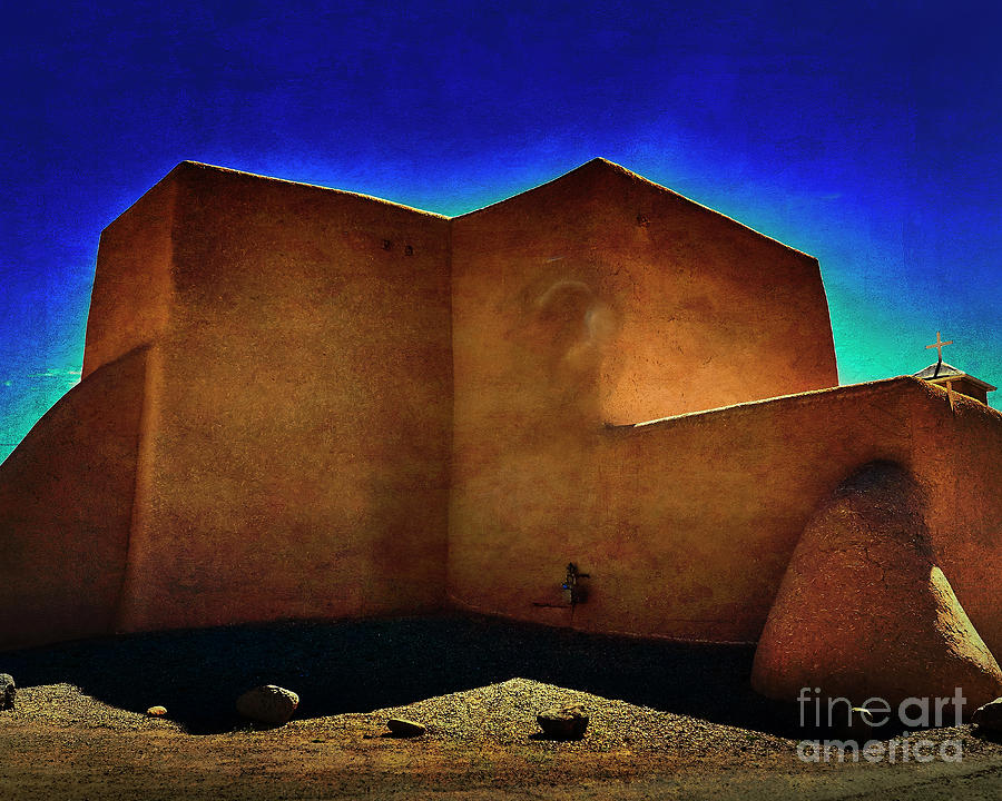 Adobe church II by Charles Muhle