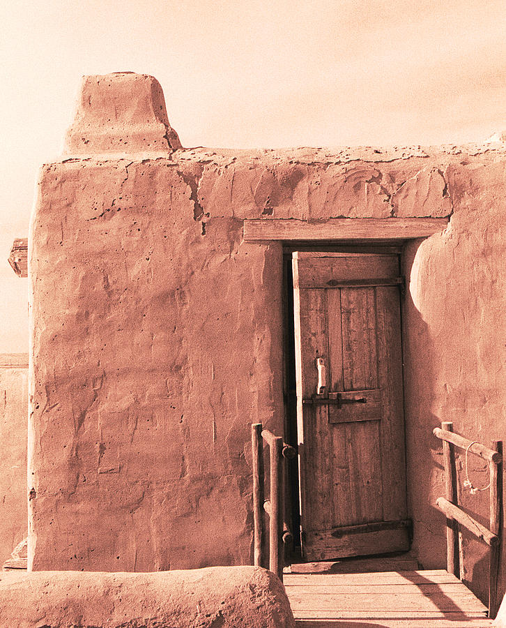 Colorado Photograph - Adobe Doorway by Eric Foltz