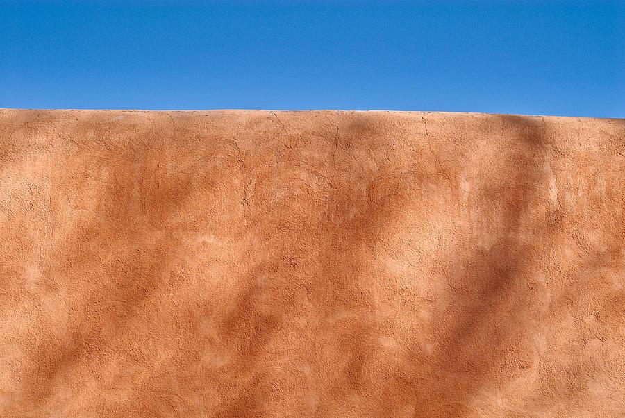 New Mexico Photograph - Adobe Wall Santa Fe by Steve Gadomski