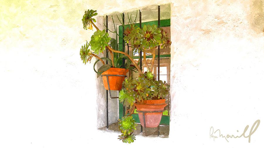 San Clemente Digital Art - Adobe Window by Roger Merrill
