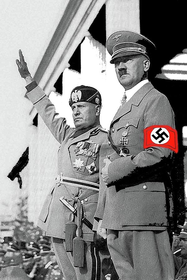 Useful message adolf hitler and benito mussolini speaking