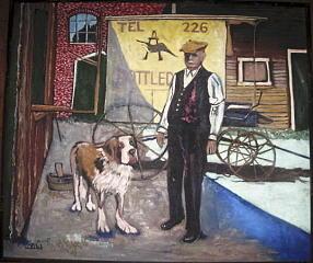 Adolph Scwarz Beerwagon Walla Walla Wa Painting by Lila Witt Locati