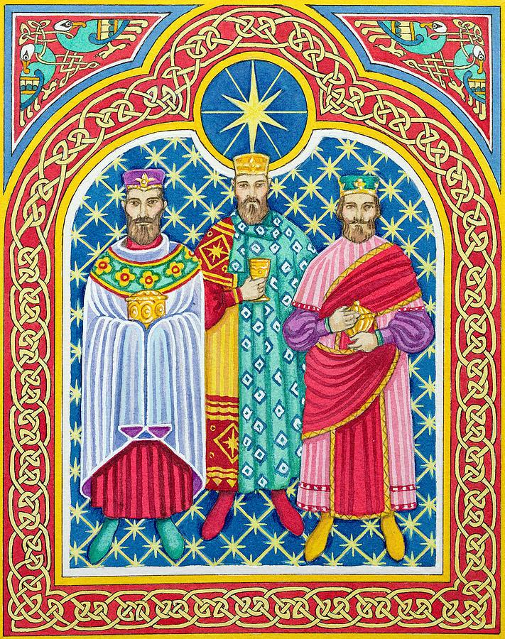 Three Painting - Adoration Of The Magi  by Lavinia Hamer