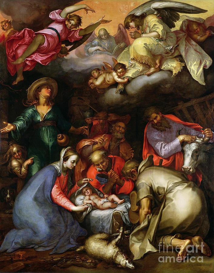 Adoration Of The Shepherds Painting - Adoration Of The Shepherds by Abraham Bloemaert