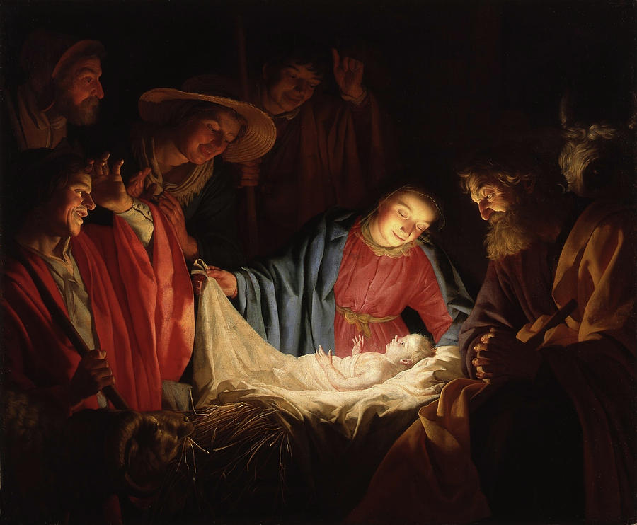Adoration of the Shepherds by Gerard van Honthorst 1662 by Gerard van Honthorst