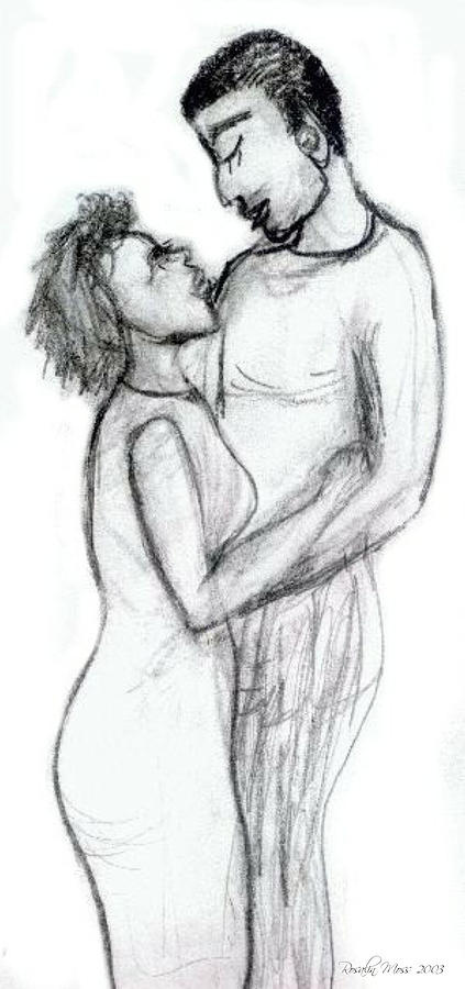 Adore Drawing - Adoration by Rosalin Moss