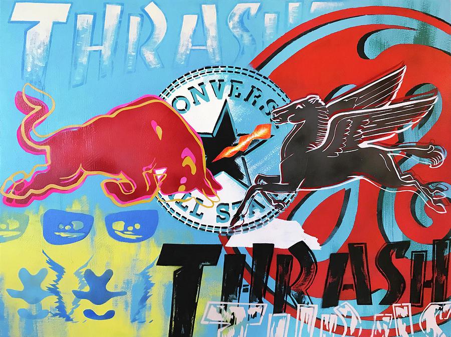 Thrasher Mixed Media - Adrenaline by Surj LA