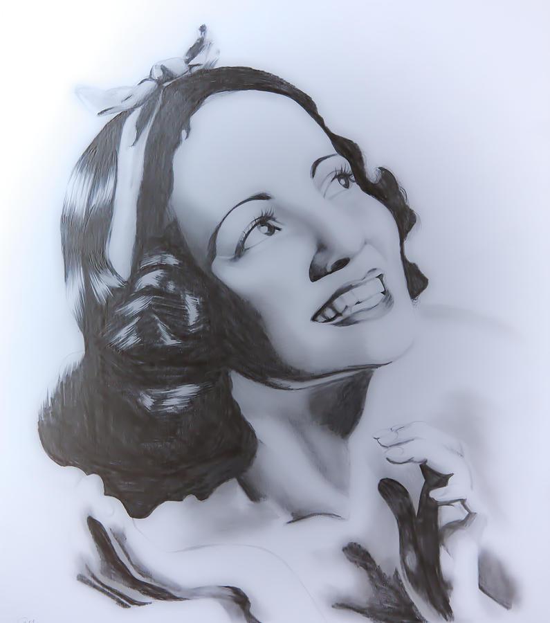 Adriana Caselotti Drawing By Sarah Murabito