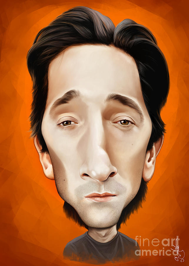 Adrien Brody Caricature Drawing by Giordano Aita Adrien Brody Art