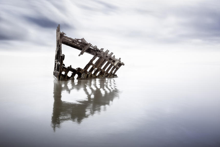 Antique Photograph - Adrift At Sea by Eduard Moldoveanu