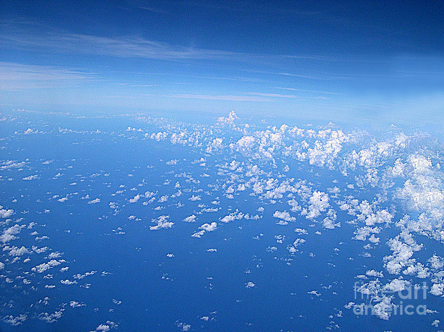 Cloud Photograph - Adrift In A Sea Of Calm by Addie Hocynec