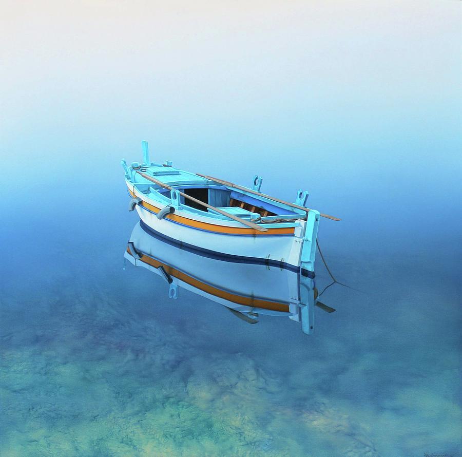 Coastal Wall Art Adrift Fishing Boat Paintings Painting By Rinaldo