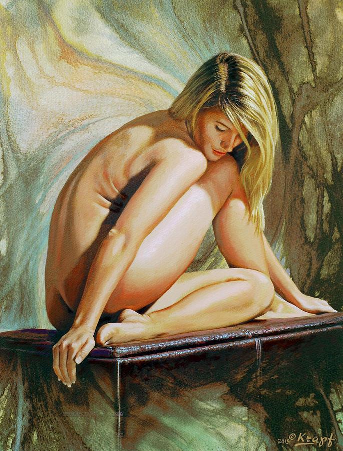 Nude Painting - Adrina by Paul Krapf