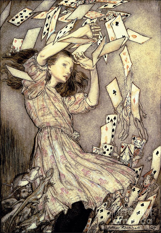 Illustration Drawing - Adventures In Wonderland by Arthur Rackham