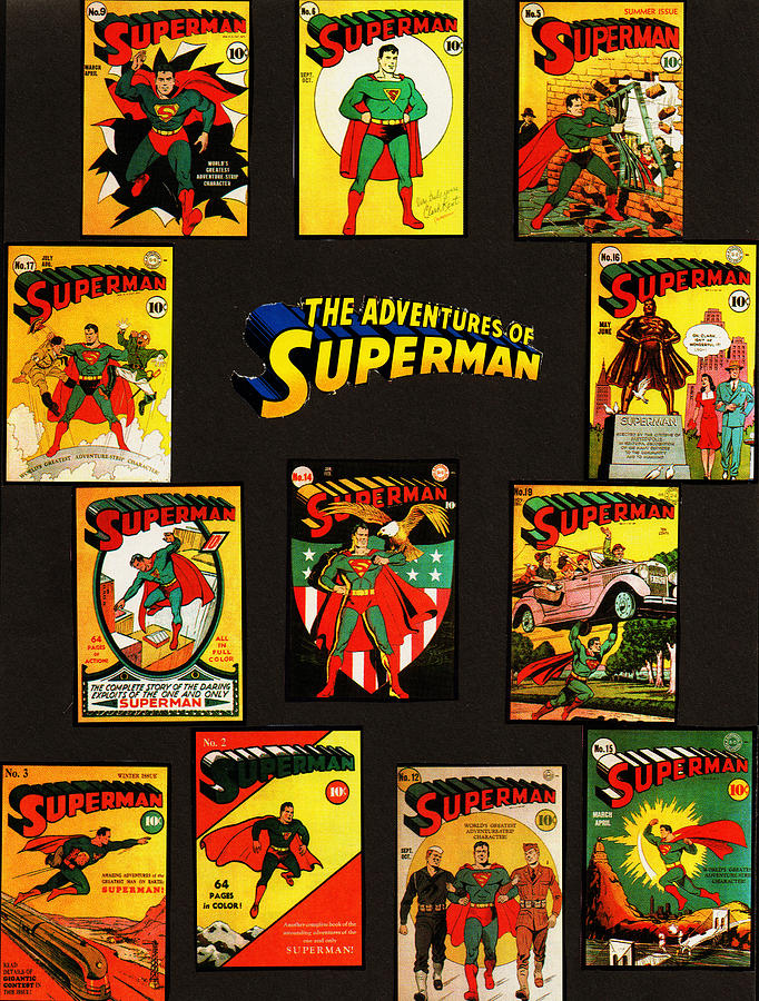 Superman Mixed Media - Adventures Of Superman by W And F Kreations