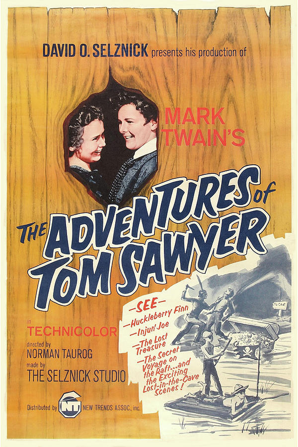 Adventures Of Tom Sawyer 1938 Mixed Media by Movie Poster Prints