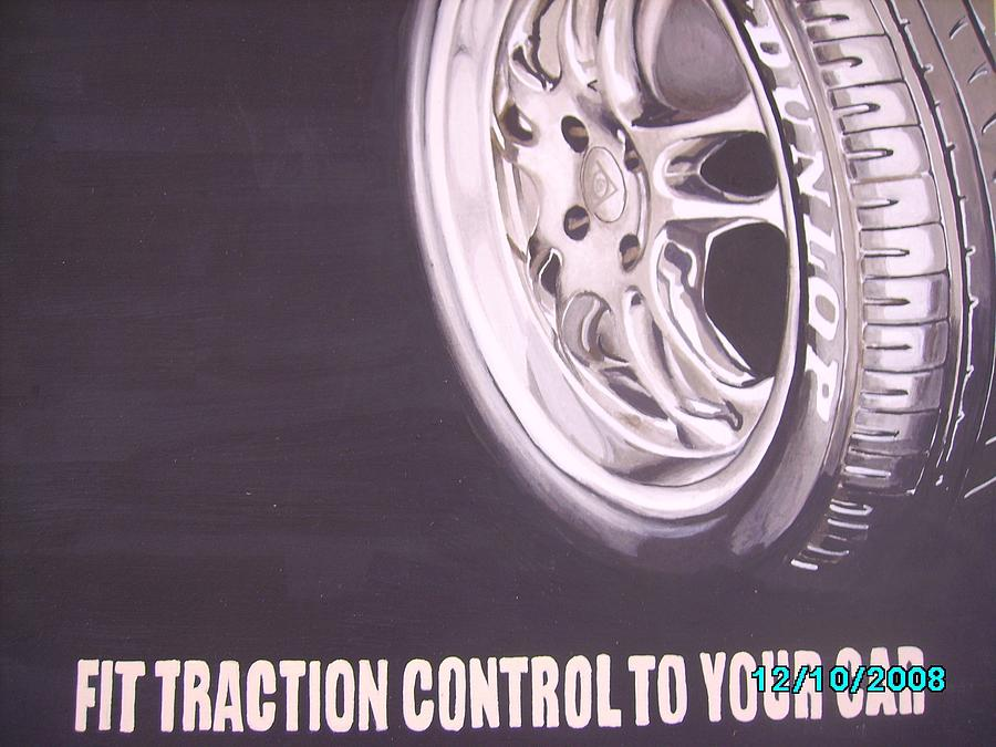 Wheel Digital Art - Adverts On Tyres by Olaoluwa Smith