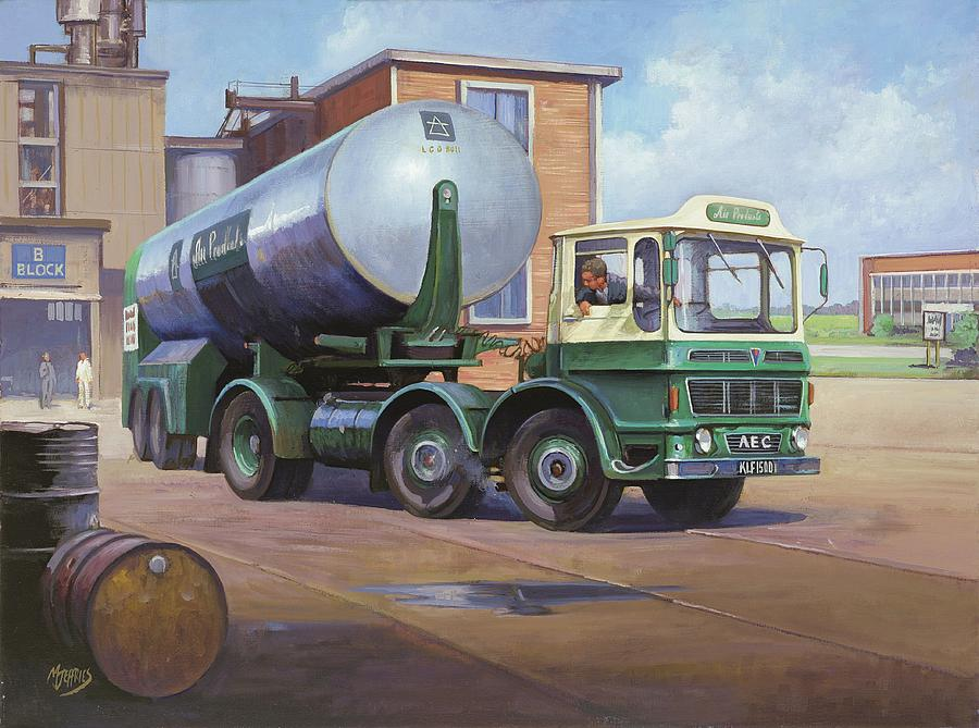 Aec Painting - Aec Air Products by Mike  Jeffries