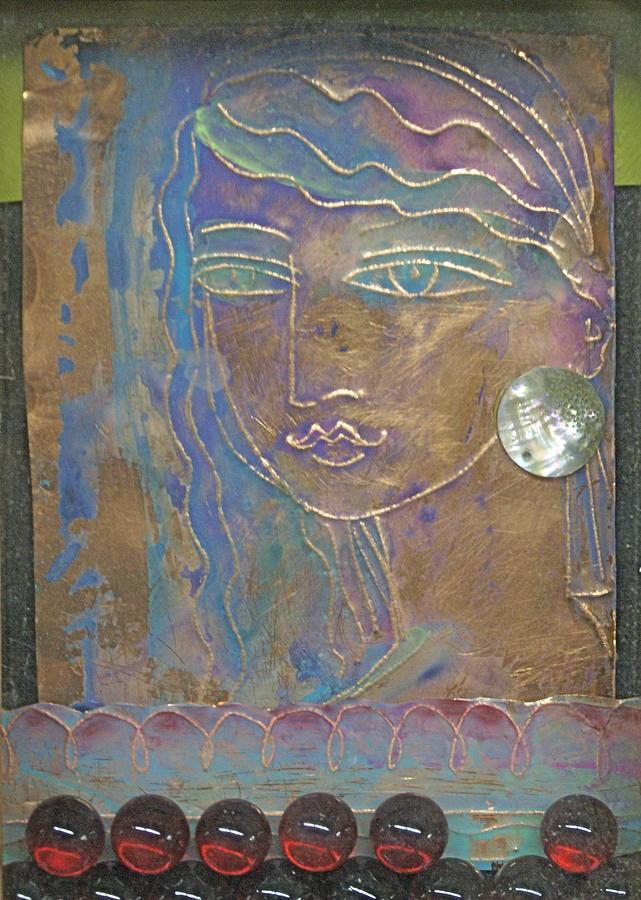 Aegean Princess Mixed Media by Trish Marcum