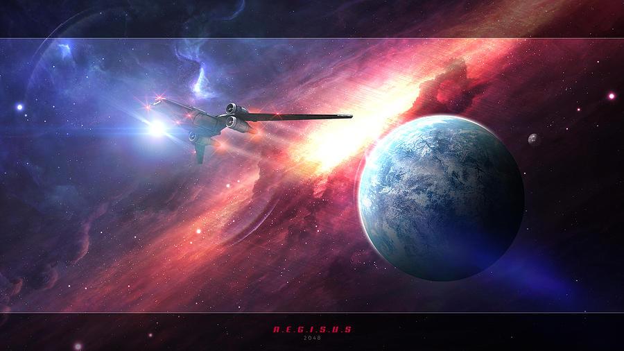 Space Digital Art - Aegisus by Tiberiu Stefan Enacache