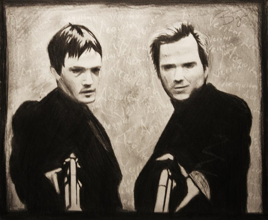 Boondock Saints Drawing - Aequitas Veritas by Bruce Byrnes