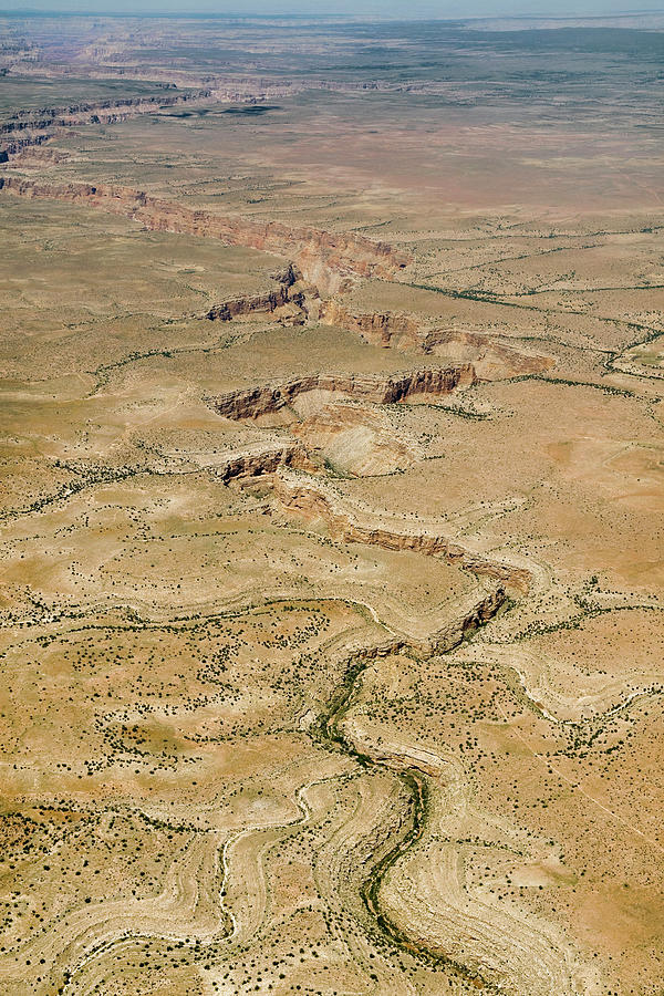 Aerial Photograph - Aerial Canyon by Colleen Joy