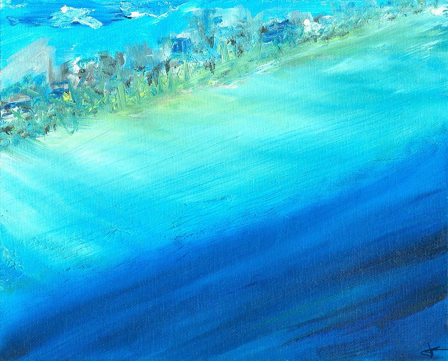 Seashore Painting - Aerial Coastline by Jorge Delara