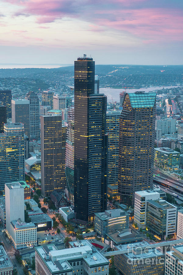 Aerial Columbia Center Seattle Photograph