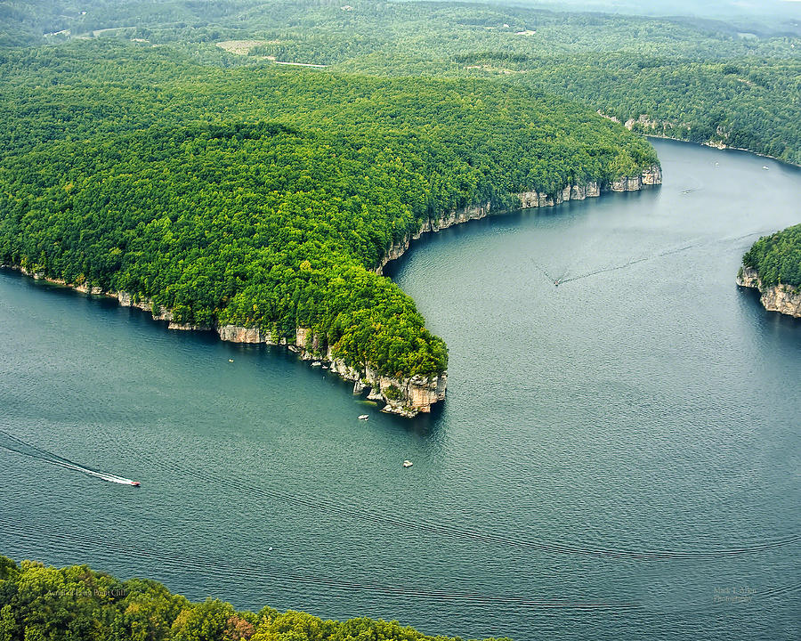 Aerial Image of  Long Point Cliff by Mark Allen