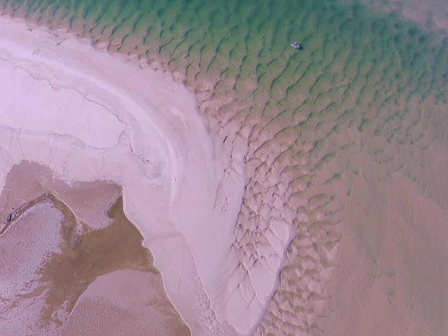 Aerial image of Noosa River fine details by Keiran Lusk