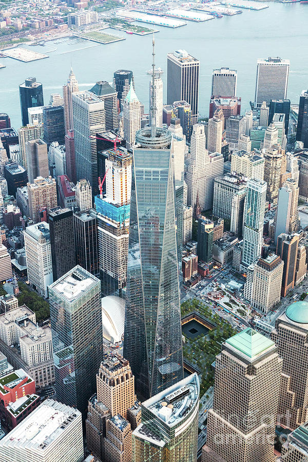 New York Photograph - Aerial Of One World Trade Center, New York, Usa by Matteo Colombo