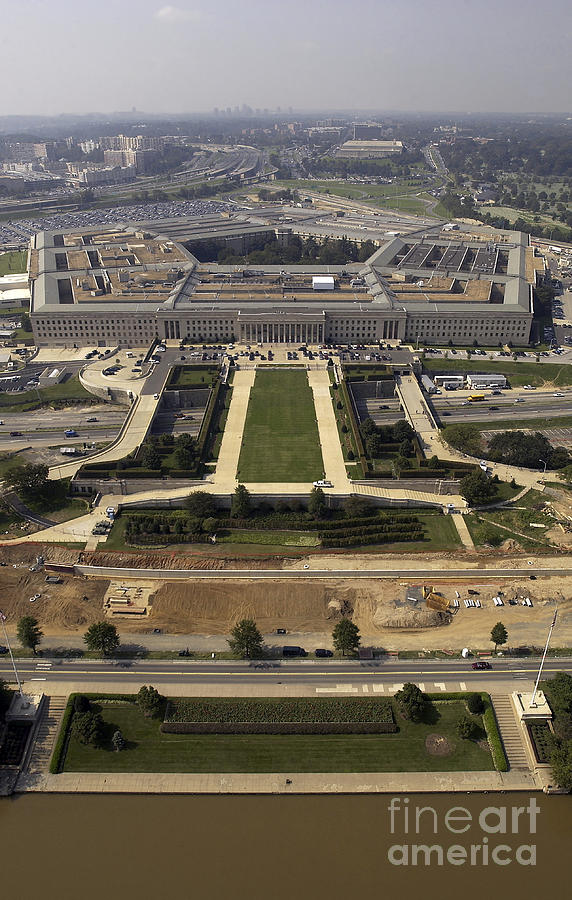 Building Photograph - Aerial Photograph Of The Pentagon by Stocktrek Images