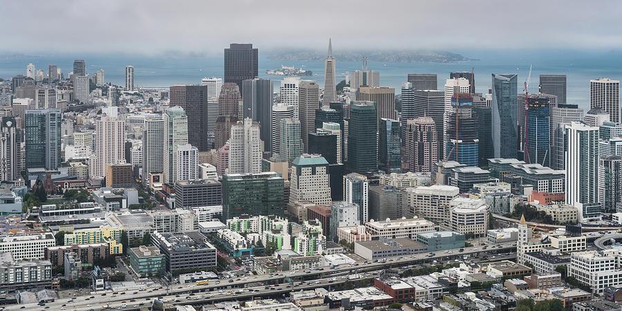 San Francisco Photograph - Aerial San Francisco by Michael Lee