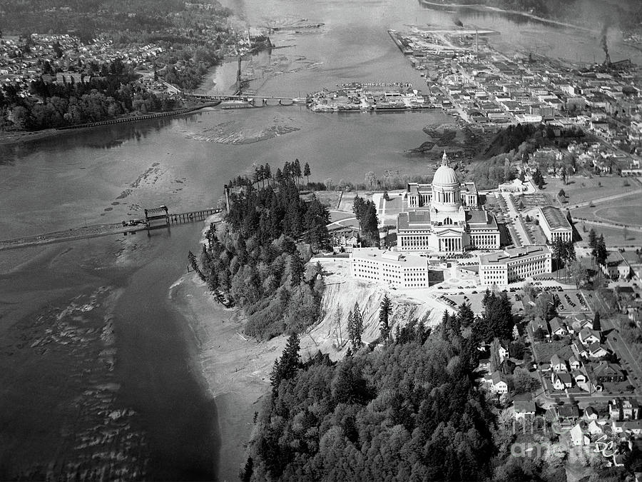 AERIAL VIEW NORTHWARD OVER OLYMPIA by Merle Junk