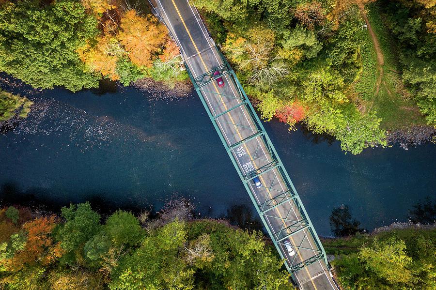 Bridge Photograph - Aerial View Of A Bridge by Lorrie Joaus