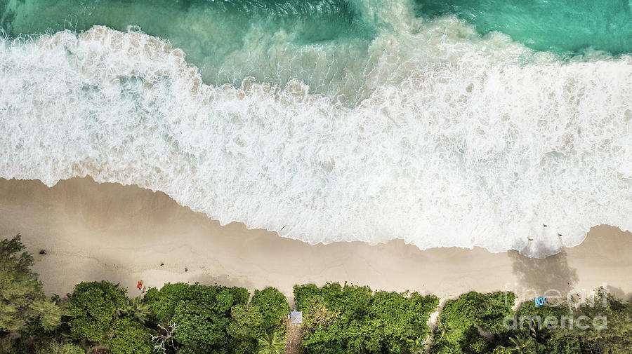 Above Photograph - Aerial View Of Anse Intendance - Mahe - Seychelles by Pier Giorgio Mariani