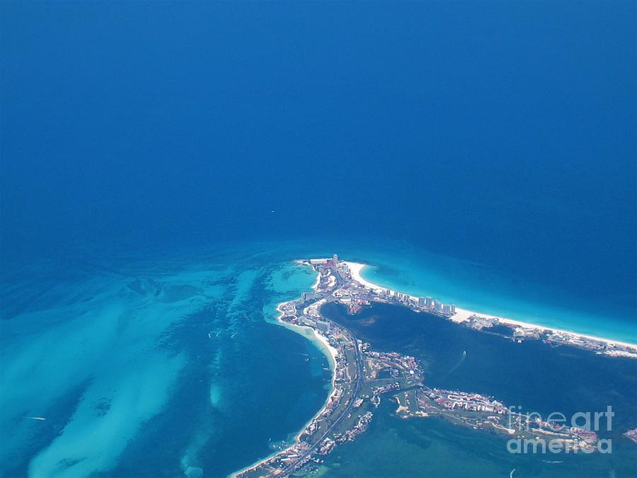 Mexico Photograph - Aerial View Of Cancun by Patti Whitten