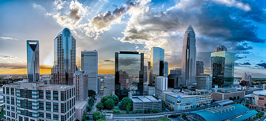 charlotte nc skyline with Aerial View Of Charlotte City Skyline At Sunset Alexandr Grichenko on Charlotte North Carolina Aerials 2015 further Aerial View Of Charlotte City Skyline At Sunset Alexandr Grichenko also Nba Owners Unanimously Voted Charlotte Bobcats Name Change To Charlotte Hor s also Cm9vZiB0b3A as well 3692553308.