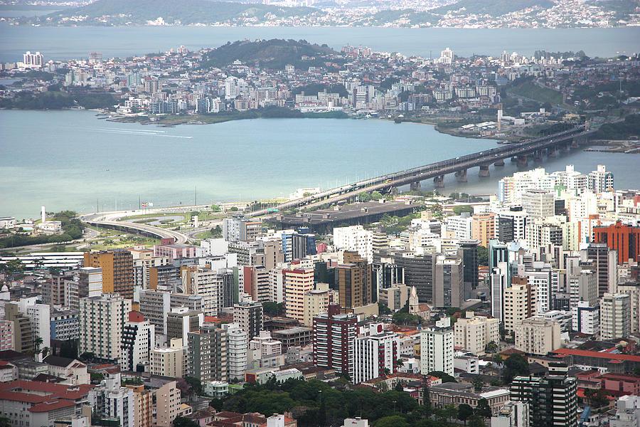 Horizontal Photograph - Aerial View Of Florianópolis by DircinhaSW