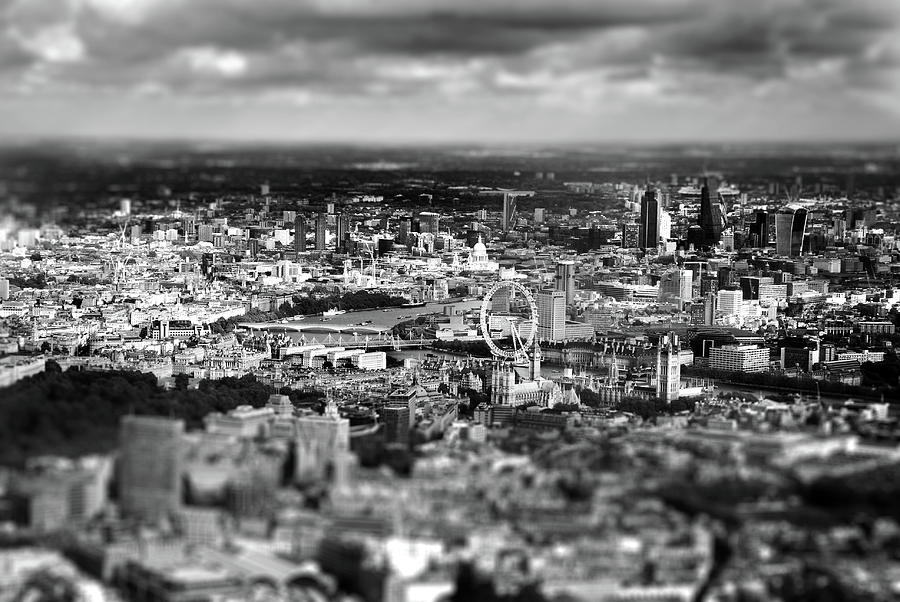 Aerial View Of London Photograph - Aerial View Of London 6 by Mark Rogan