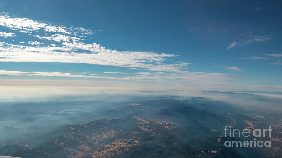 Usa Photograph - Aerial View Of Mountain Formation With Low Clouds During Daytime by PorqueNo Studios