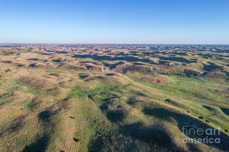 aerial view of Nebraska Sand Hills  by Marek Uliasz